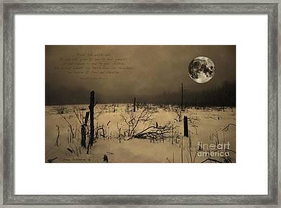 Native American Full Moon Treat The Earth Well Framed Print