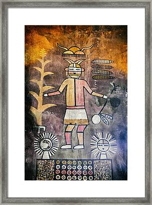 Native American Harvest Pictograph Framed Print