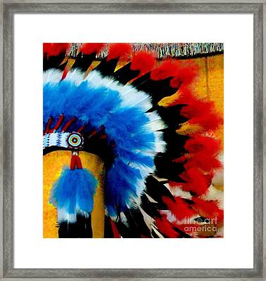 Framed Print featuring the photograph Native American Headdress by Janette Boyd