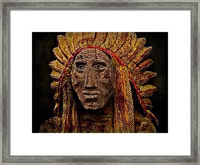 Native American In Wood 1886 Framed Print by David Dehner