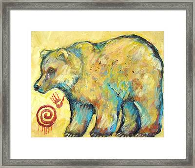 Native American Indian Bear Framed Print by Carol Suzanne Niebuhr