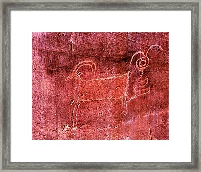 Native American Indian Fremont Sheep Framed Print