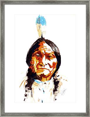 Native American Indian Framed Print by Steven Ponsford