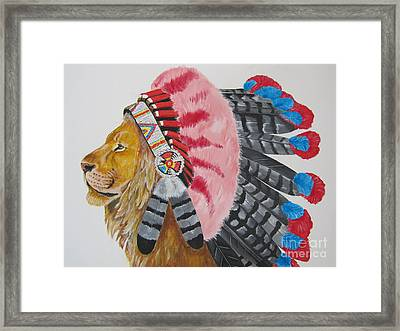 Native American Lion Framed Print