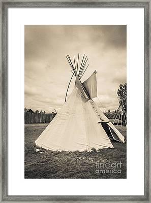 Native American Plains Indian Tipi Tepee Teepee Framed Print by Edward Fielding