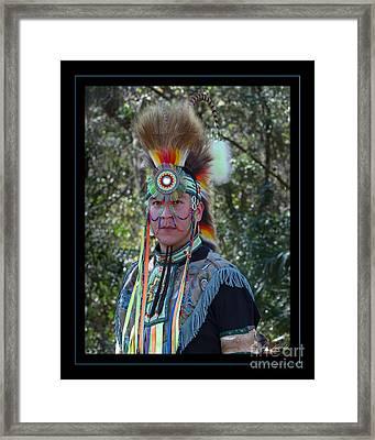 Native American Portrait Framed Print