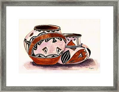 Native American Pottery Framed Print