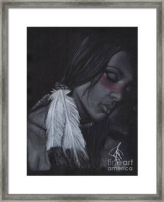 Native American Framed Print by Rosalinda Markle