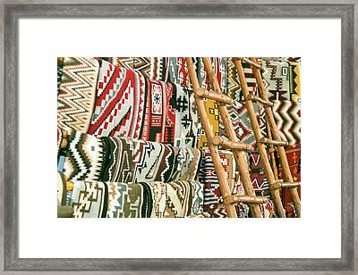 Native American Rugs Framed Print by Julien Mcroberts