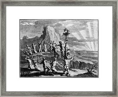Native American Sun Worshippers Framed Print