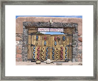 Framed Print featuring the photograph Native American Trading Post by Dora Sofia Caputo Photographic Art and Design