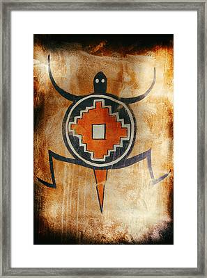 Native American Turtle Pictograph Framed Print
