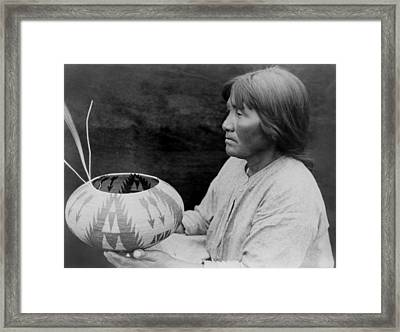 Native American Woman Circa 1924 Framed Print by Aged Pixel