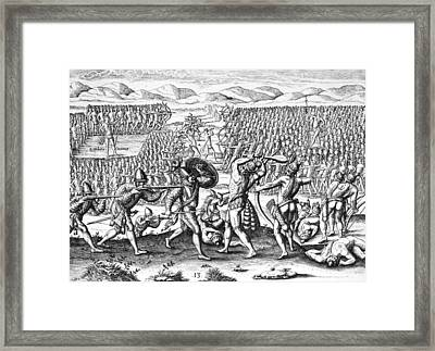 Native Americans Florida Battle Framed Print