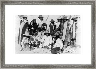 Native Americans Games, 1890 Framed Print by Granger