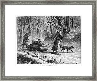 Native Americans Sled, 1875 Framed Print