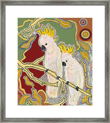 Native Aussies Framed Print by Pat Saunders-White