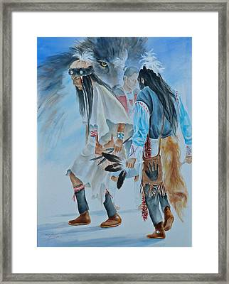 Native Dancers  Framed Print