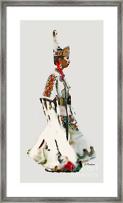 Native Indian Woman Dancer Framed Print by Linda  Parker
