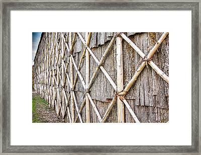 Native Longhouse Framed Print by Nick Mares