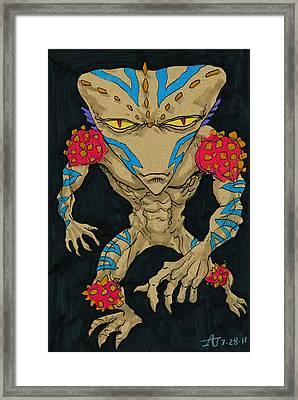 Native Lurcher Framed Print