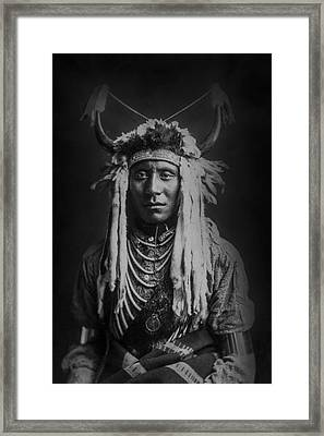 Native Man Circa 1900 Framed Print by Aged Pixel