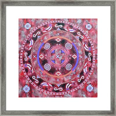 Native Mandala Framed Print by Vlatka Kelc