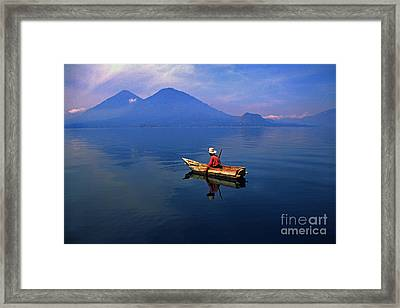 Native Mayan Fisherman On Lake Atitlan Framed Print by Thomas R Fletcher