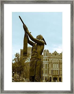 Native Pipe On The North Oval Framed Print