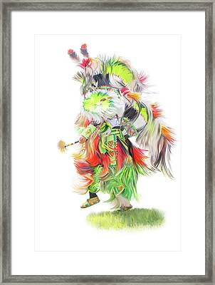 Native Pow Wow Dance Framed Print by Ramona Murdock
