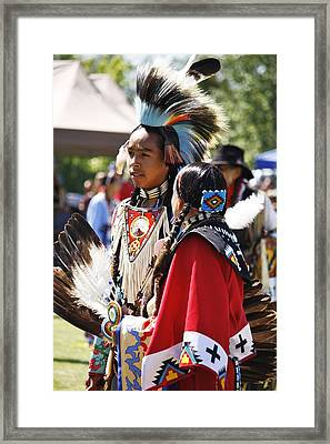 Framed Print featuring the photograph Native Pride Shines by Al Fritz