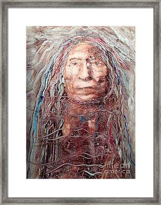 Native Roots Framed Print by FeatherStone Studio Julie A Miller