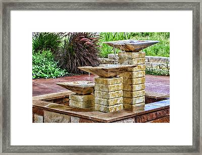 Native Texas Stone Fountain Framed Print