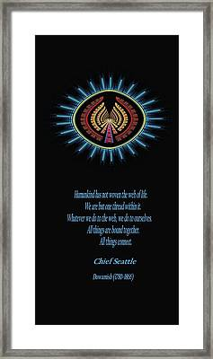 Native Truth - Chief Seattle Framed Print by Lea Wiggins