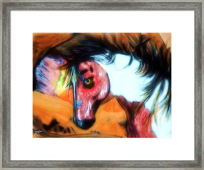 Native War Horse 2 Framed Print