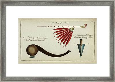 Native Weapons Framed Print