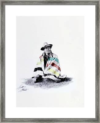 Native West Coast Indian Framed Print