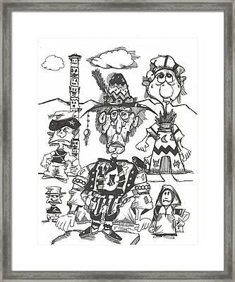 Natives Framed Print