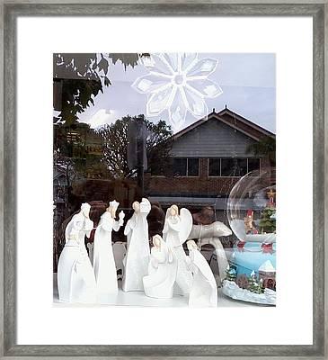 Nativity Framed Print by Adrianne Wood