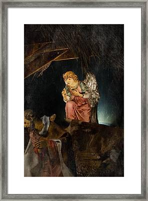 Nativity Angel  Framed Print by Susan  McMenamin