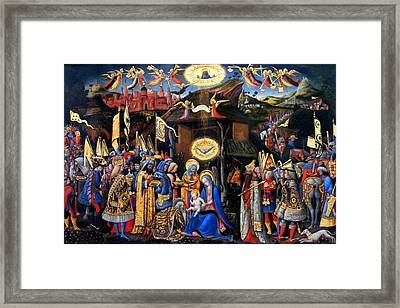 Nativity Angels Framed Print by Munir Alawi
