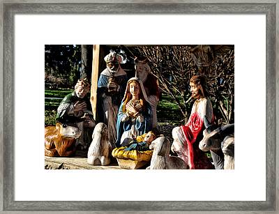 Nativity Framed Print by Bill Cannon