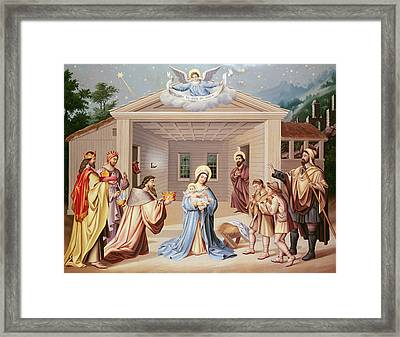 Nativity Framed Print by American School