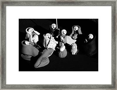 Framed Print featuring the photograph Nativity Earthenware by Ron White