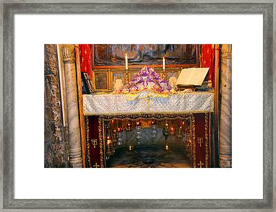 Nativity Grotto Framed Print