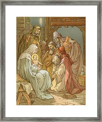 Nativity Framed Print by John Lawson