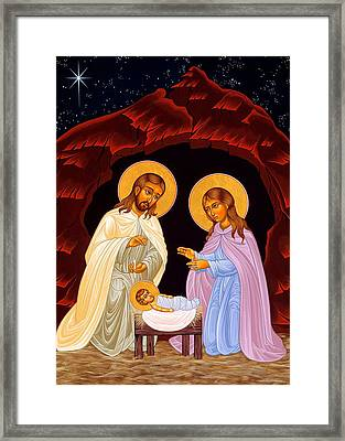 Nativity Night Framed Print by Munir Alawi
