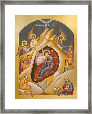 Nativity Of Christ Framed Print