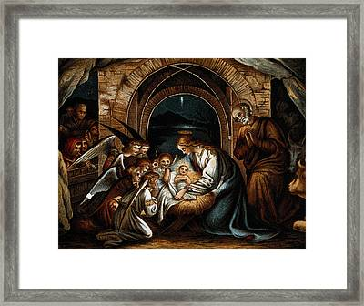 Nativity Of Jesus Framed Print by Wellcome Images