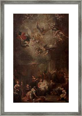 Nativity Of Mary Framed Print by Andrea Celesti